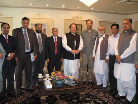 APHC leaders With Mian Muhammad Nawaz Sharif PML Cheif